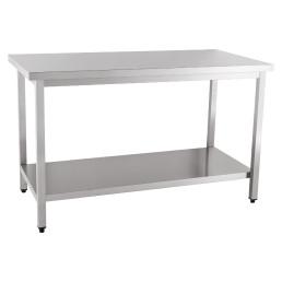 Arbeitstisch zur Selbstmontage mit Boden ohne Aufkantung 1000 x 600 x 850 mm