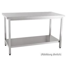 Arbeitstisch zur Selbstmontage mit Boden ohne Aufkantung 1200 x 600 x 850 mm