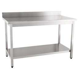 Arbeitstisch zur Selbstmontage mit Boden 100 mm Aufkantung 1000 x 600 x 850 mm