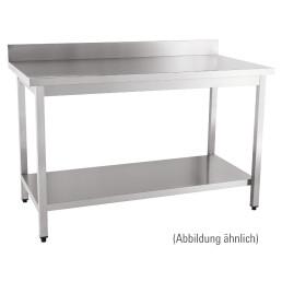 Arbeitstisch fertig montiert mit Boden 100 mm Aufkantung 1000 x 700 x 850 mm