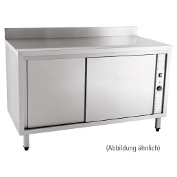 Wärmeschrank mit Schiebetüren mit 100 mm Aufkantung 1200 x 700 x 850 mm