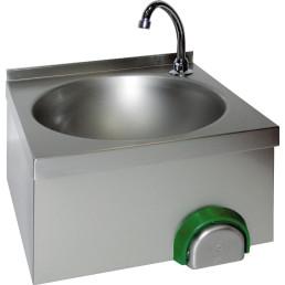 Handwaschbecken eckig, ovales Becken Wandmontage 400 x 400 x 240 mm