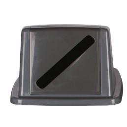 Deckel mit Einwurfschlitz grau für Wertstoffsammler 80 l