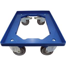 Rollwagen blau 600 x 400 mm für Besteckbehälter für TD 8000 + TD 8000 Fill & Go